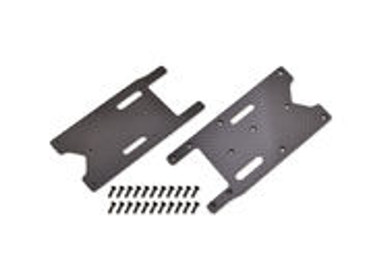 JQ Racing Carbon Fiber 1mm Rear Arm Braces with Screws
