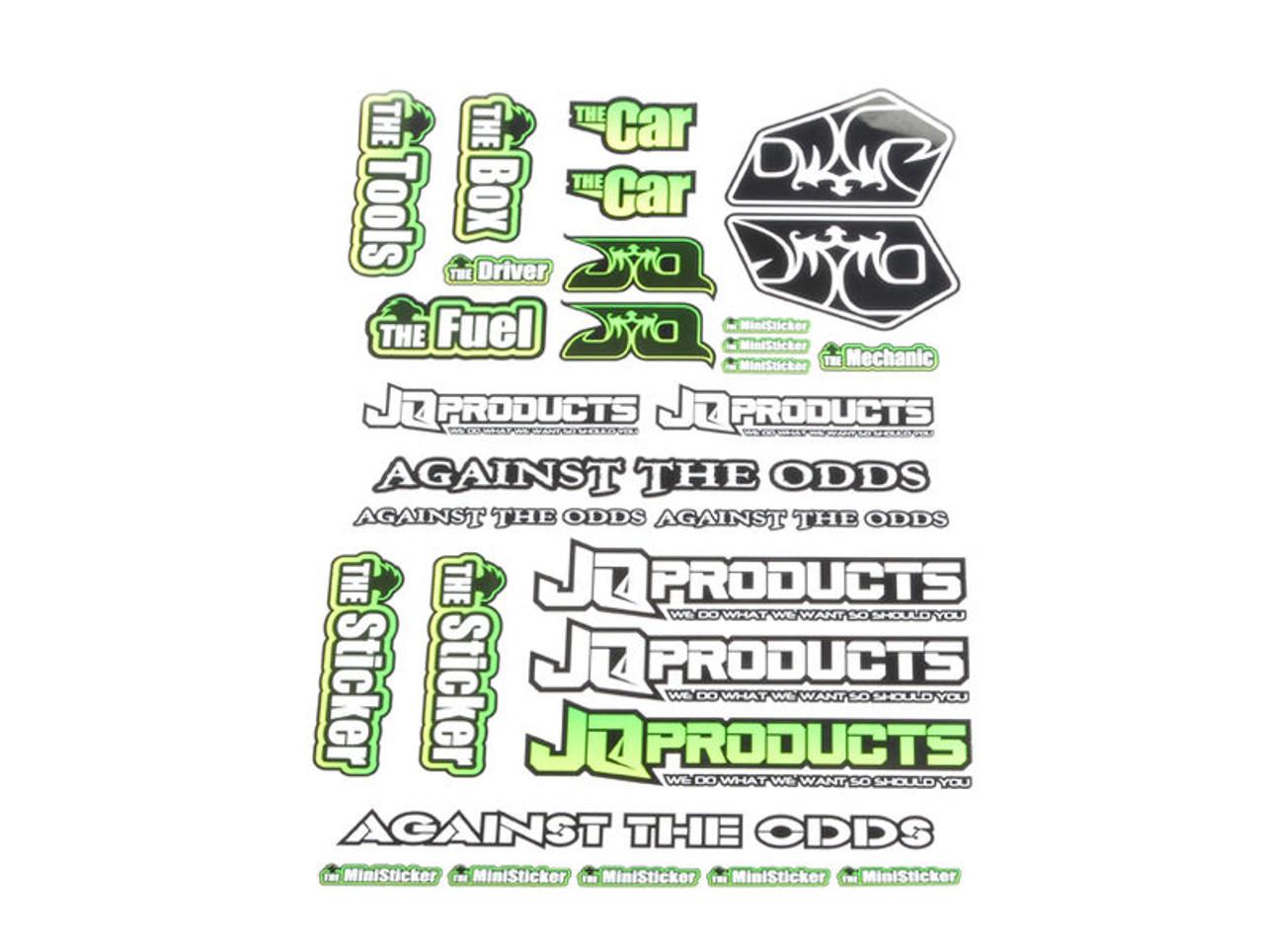 JQ Racing THE WE Sticker Sheet