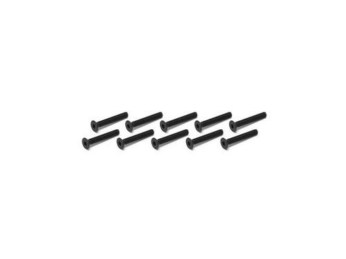 JQ Racing 3x20mm REV. Flat Head Screw (10pcs)