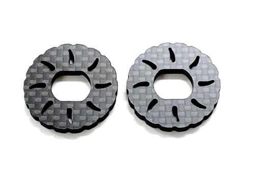 Assault RC Carbon Fiber Vented Brake Rotor Set (2pcs) for JQ Racing Black Edition (ARC91005)