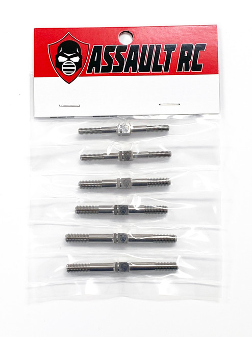 Assault RC Gladiator Titanium Turnbuckle Complete Set for JQ Racing Black Edition