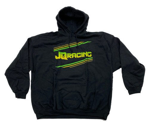 2020 JQ Racing Hooded Sweatshirt (Black) (JQ2020H)
