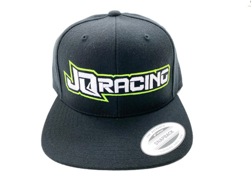 JQ Racing 2020 Flexfit Tech Snap Back hat (Black) (JQ2020HT)