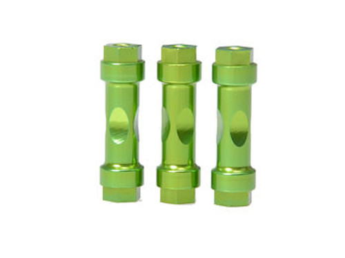 JQRacing CNC Wingmount Posts (3pcs Green) (JQB0241)