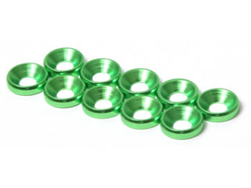 JQRacing M4 CS Washer 10pcs (Green) (JQA0034)