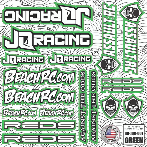 DG Designs JQ Racing Decal Sheet (Green)