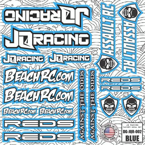DG Designs JQ Racing Decal Sheet (Blue)