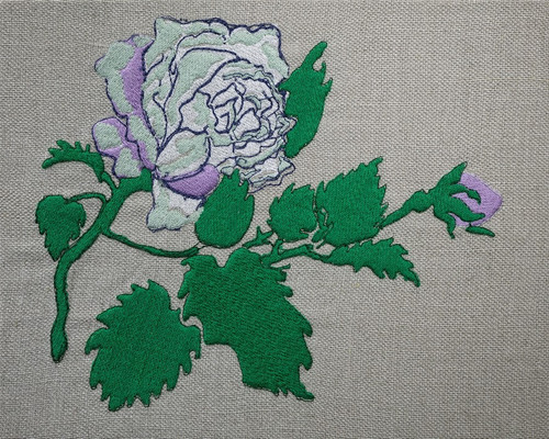 Blue Rose Embroidery