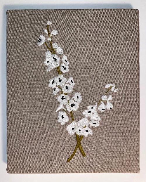 Delphinium Embroidery