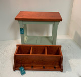 30 Inch Bench with Tray Shelf and Matching Coat Rack Cubbie