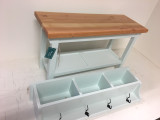 32 Inch Bench with Tray Shelf and Matching Coat Rack Cubbie