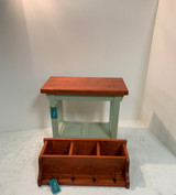 36 Inch Bench with Tray Shelf and Matching Coat Rack Cubbie