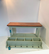 40 Inch Bench with Tray Shelf and Matching Coat Rack Cubbie