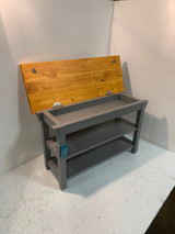 2 Shelf Storage Top Bench In Your Choice of Size and Color