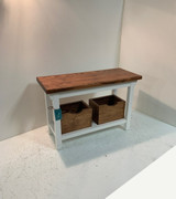 Tray Shelf Bench with Storage Boxes in your Choice of Colors and Size