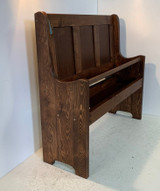 """42"""" Pew Bench With Built In Storage Compartment"""