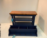 30 Inch Two Shelf Bench and Matching Coat Rack Cubbies In your Choice of Colors