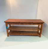 Modern Two Shelf Bench in Your Choice of Colors and Sizes
