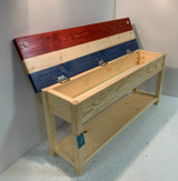 """Patriot Bench 46"""" Single Shelf Bench with 5"""" Storage Compartment"""