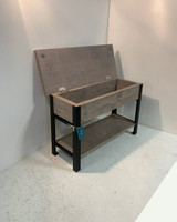 Storage Bench with Steel Legs In Your Choice Of Color