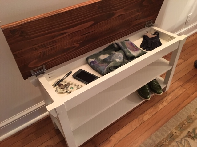 New Hallway, Foyer, Kitchen, Entryway Storage Bench With Hidden Compartment