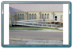 ADA Handicap Ramp Installed in Front of a Church