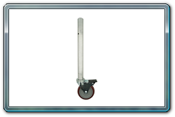 Single caster leg used in any corner or outside of any stage deck.
