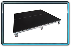 8 x 8 rolling polyvinyl drum riser with 12 inch casters