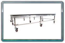 8 x 8 rolling riser with 24 inch casters