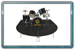 8 x 8 Quik Stage Drum Riser with curved front.