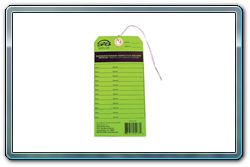SAS 5134 inspection tag for eye wash stations