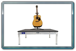 4 x 4 guitar riser with carpet. Also available in any size or height.