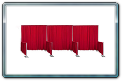 Side-by-side trade show booths with shared side walls. You can also share the back walls.