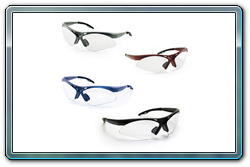 Diamond back safety glasses. 4 frame color choices.