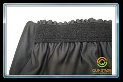 Loop side Velcro on top of every skirt