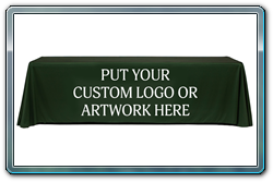 Custom logo throw covers are affordable. Call today for pricing.