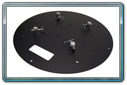 "Quik Stage 24"" Round Black Steel Truss Base. Fits Global Truss F23, F24, F33 and F34."