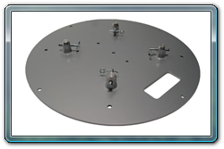 "Quik Stage 24"" Round Silver Steel Truss Base. Fits Global Truss F23, F24, F33 and F34."