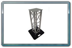 1 meter Truss totem with truss and base top and bottom and without spandex truss cover.