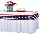 Stars & Stripes Table Skirting