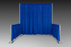 8' H x 10' W with 3' H x 10' L Side Wings. Popular Trade Show Booth!