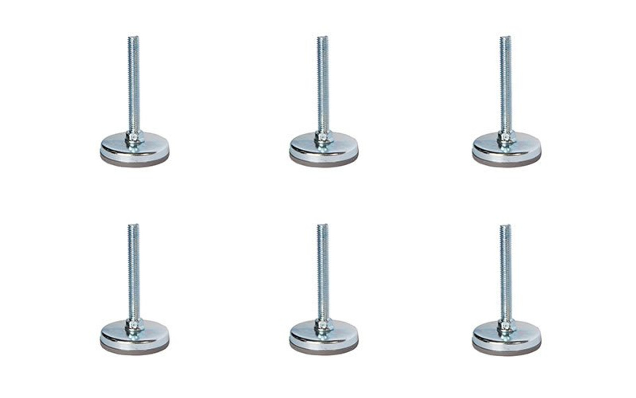 """Best selling 6 Pack of Quik Stage 3/8-16 x 3"""" Long Adjustable Screw Foot for Portable Stage Leg."""