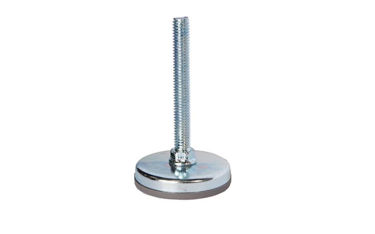 """Top selling Quik Stage 3/8-16 x 3"""" Long Adjustable Screw Foot for Portable Stage Leg - Close up."""