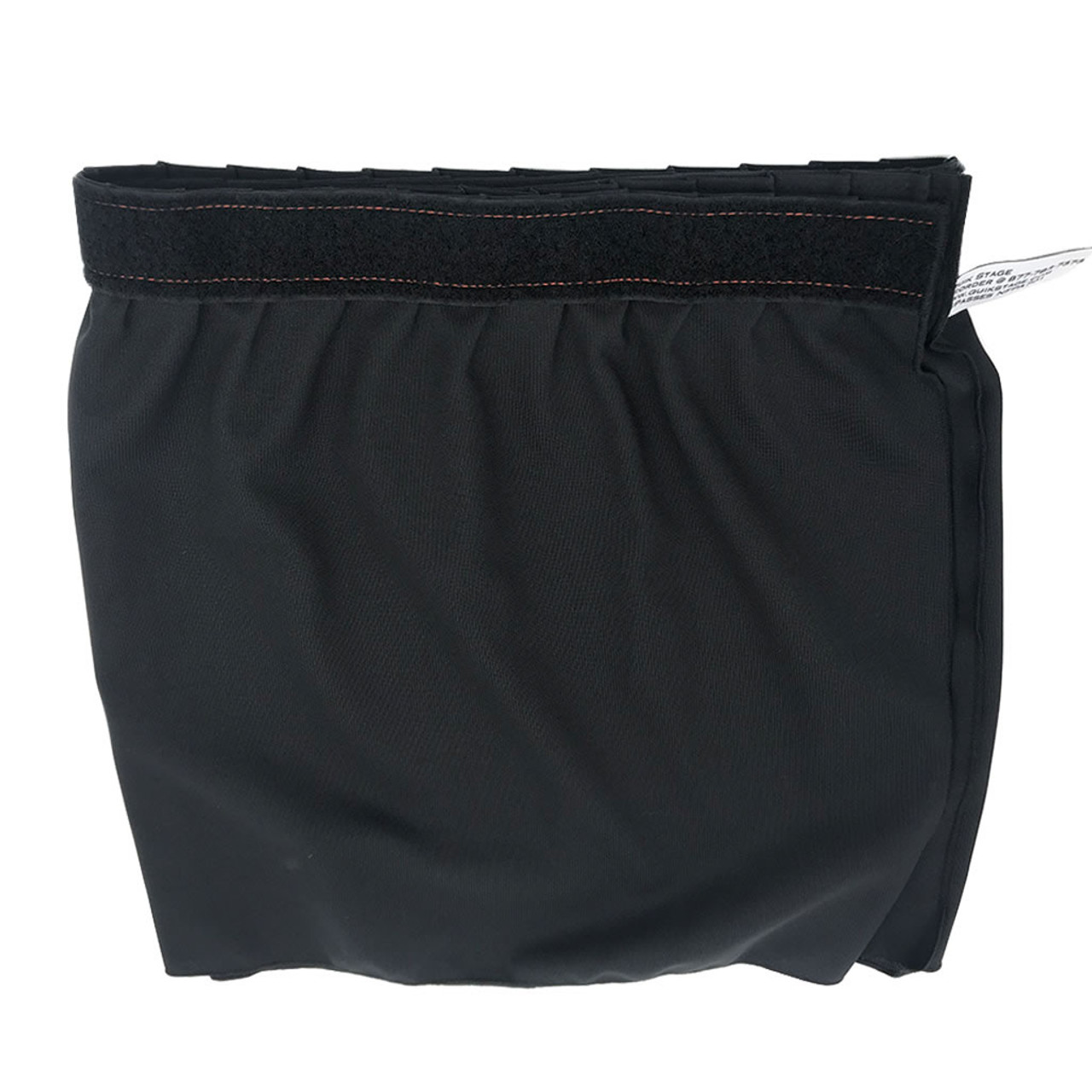 40 Inches High Best Value Black Expo Pleat Polyester Stage Skirting with Velcro. FR Rated. - Back side.