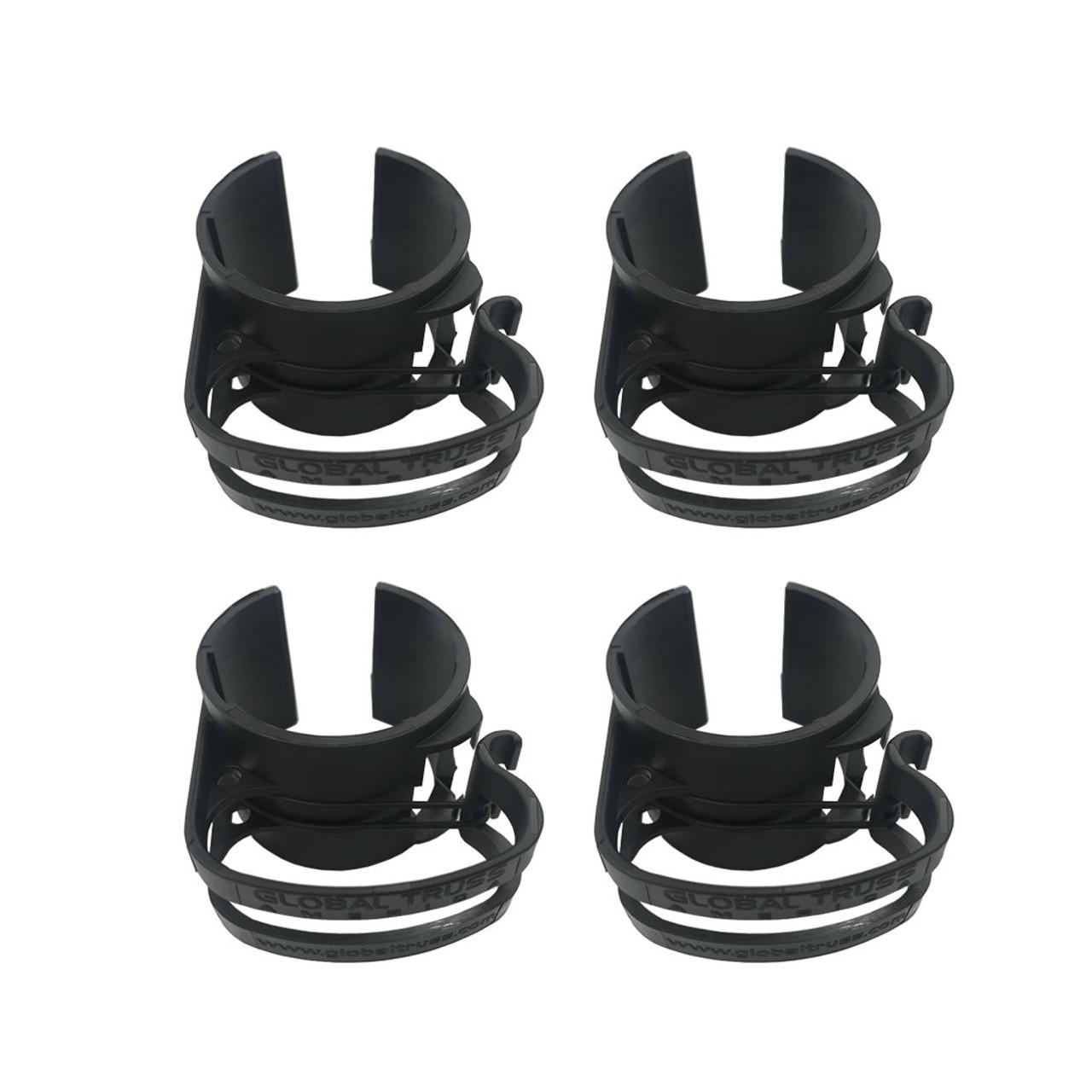Global Truss DT Snap On Black Cable Management Clips 4 Pack- Black