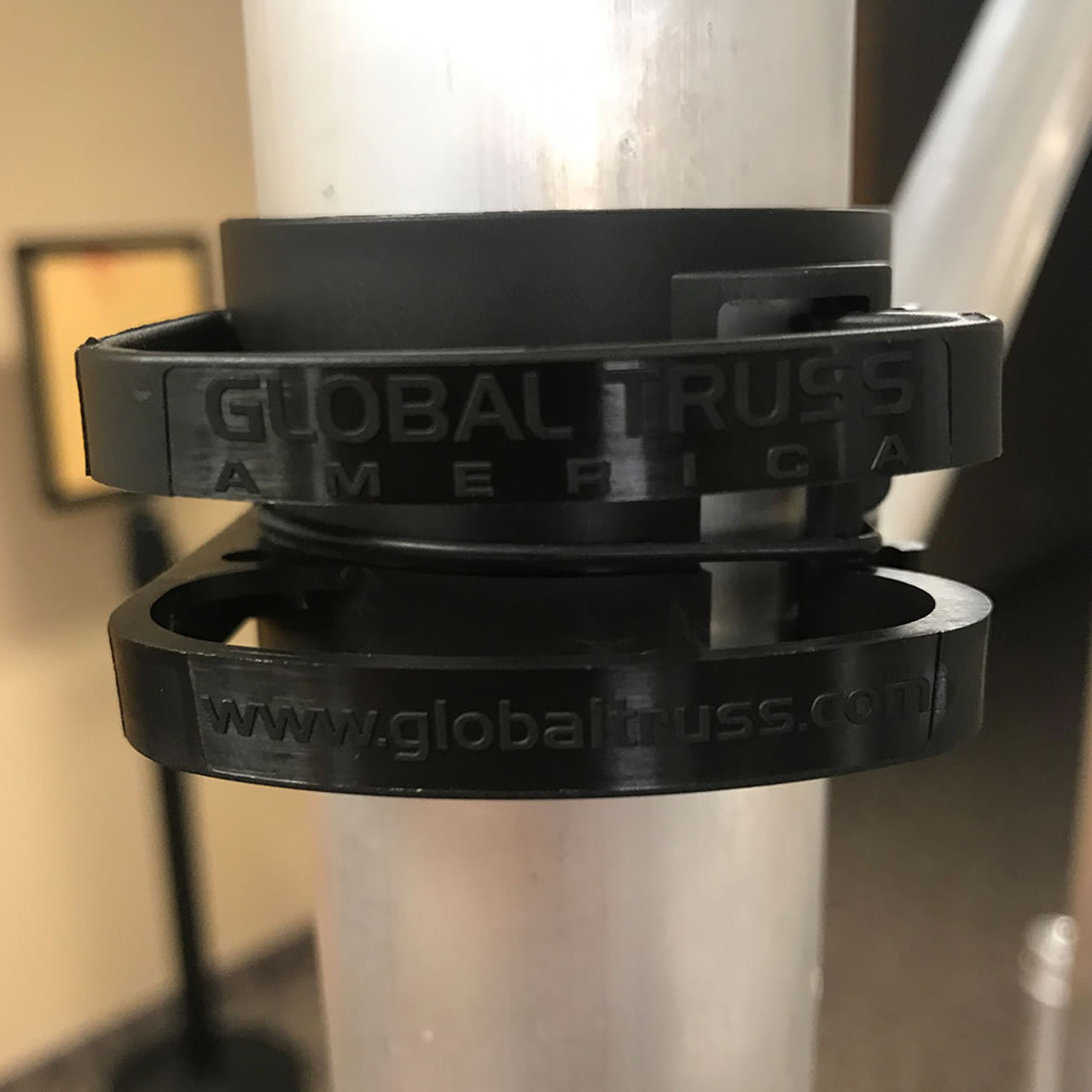 Global Truss DT Snap On Black Cable Management Clips 4 Pack- Closeup