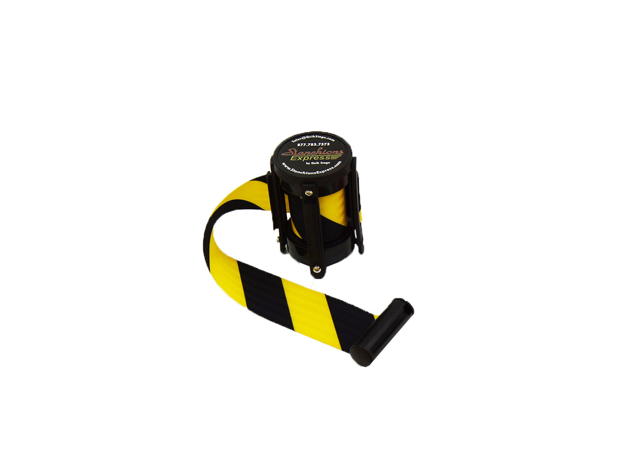 Top Seller Premium Black/Yellow Caution 10' Replacement Retractable Belt Stanchion Cassette.