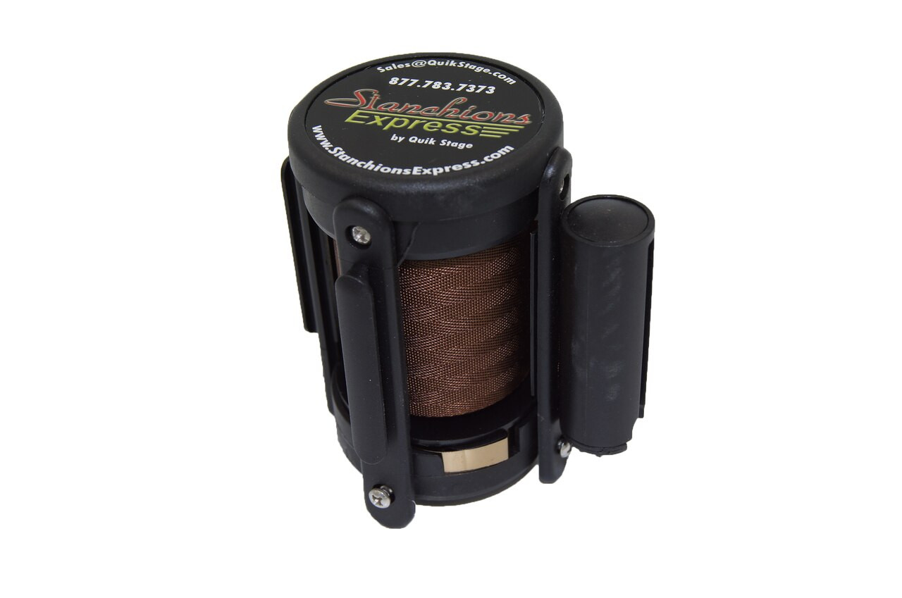 Closeout Best Seller Brown 10' Replacement Retractable Belt Stanchion Cassette.