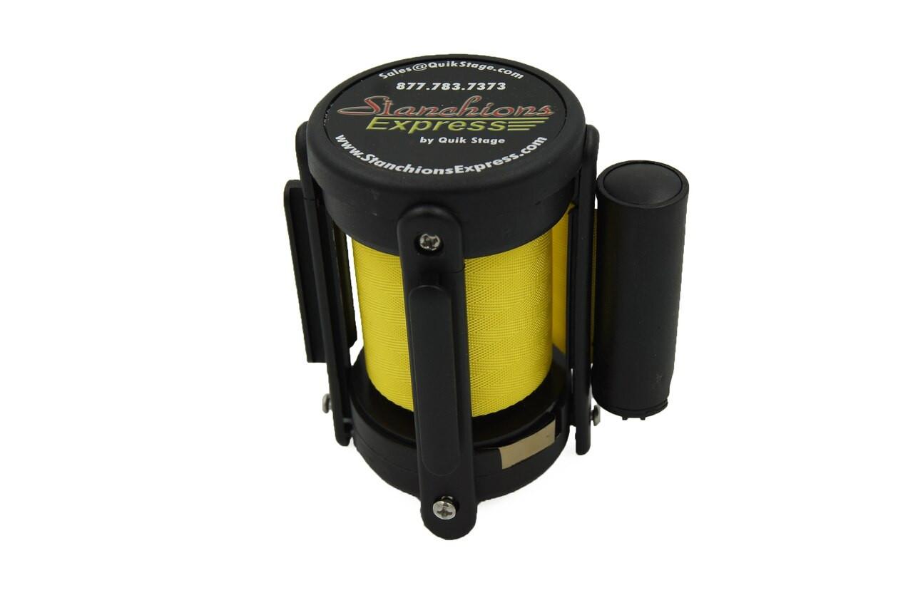 Best Seller Yellow 10' Replacement Retractable Belt Stanchion Cassette.