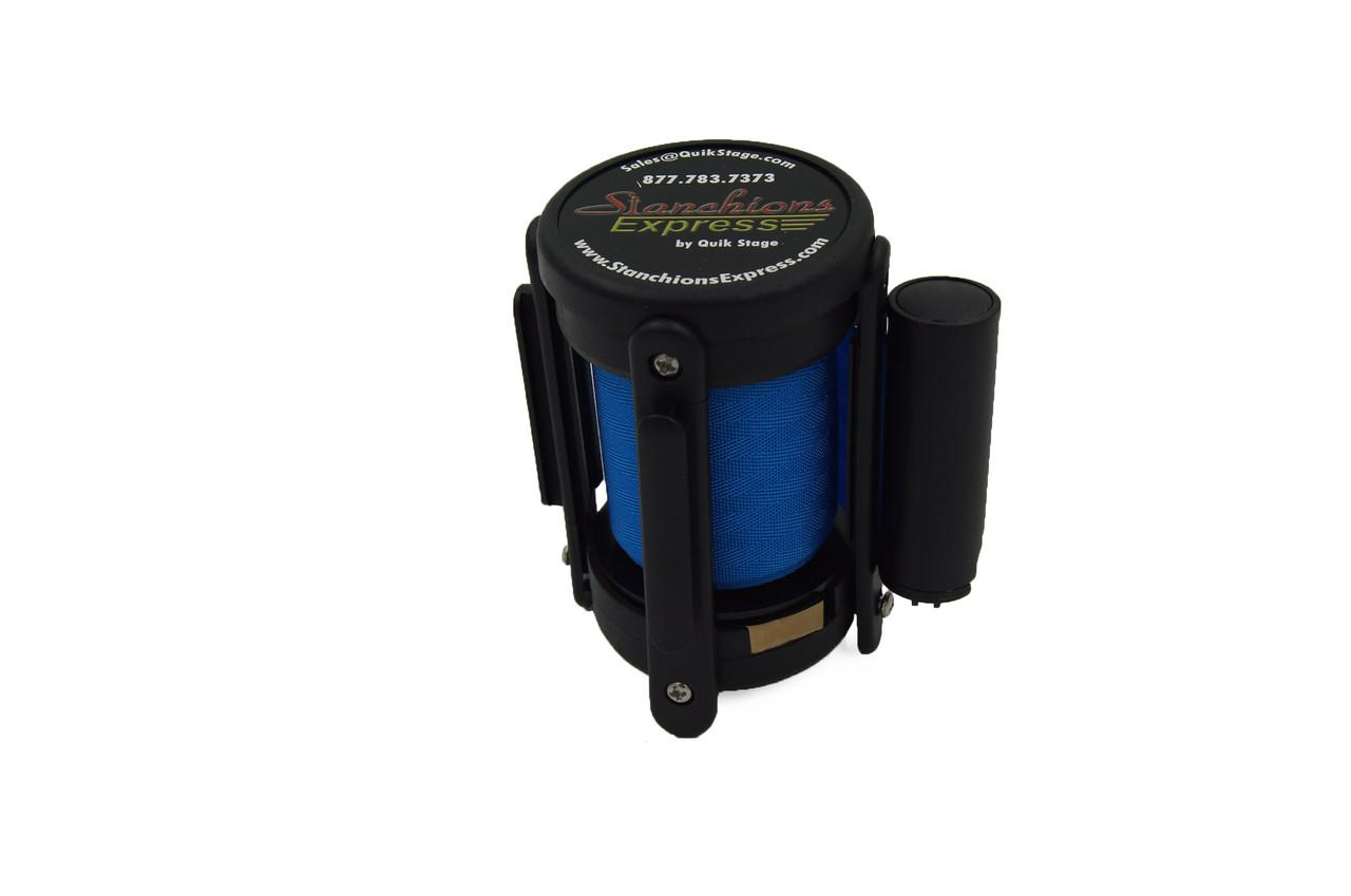 Closeout Best Seller Light Blue 10' Replacement Retractable Belt Stanchion Cassette.